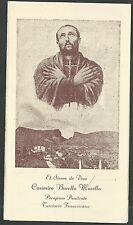 Estampa antigua Siervo de Dios Casimiro andachtsbild santino holy card santini