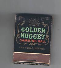 Golden Nugget Roulette Dice Front Striker Black Vintage Matchbook Las Vegas
