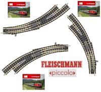 FLEISCHMANN 9174 SCAMBIO in CURVA SINISTRO MANUALE con MASSICCIATA in SCALA-N