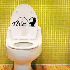 Removable DIY Toilet Seat WC Bathroom Art Vinyl Home Decals Decor Wall Sticker