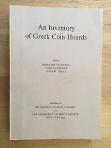 Inventory of Greek Coin Hoards.  Thompson.  Paperback, 1973.