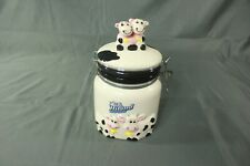 Hiland Dairy Cows Ceramic Cannister