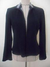 J'Envie womens black cotton blend track suit jacket size S