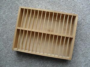 Musikkassetten Holzregal natur für 30 Cassetten MC-Regal (34,5 x 26 x 6,2 cm)