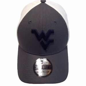 West Virginia Mountaineers New Era 39Thirty Diamond Era S/M FlexFit Cap Hat $30