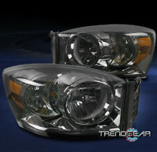 FOR 2006-2008 DODGE RAM 1500 2500 3500 PICKUP REPLACEMENT HEADLIGHTS LAMP SMOKE