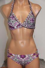 NWT Oneill Swimsuit Bikini 2 piece set Sz M Mandala Notch Pant RST