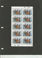 STATE DUCK, Pa #4 VF+ NH, Complete Sheet, 1986