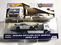 Hot Wheels Car Culture Team Transport Nissan Skyline GT-R BNR-34 Aero Lift