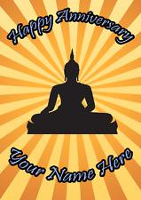 Bouddha Joyeux Anniversaire Carte codebu A5 Personnalisé Greetings Cards