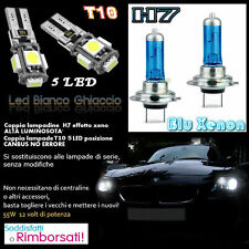 BMW E87 SERIE 1 SET LAMPADE H7 BLU XENON ANABBAGLIANTE 55W + T10 POSIZIONE 5 LED