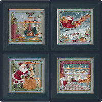 MILL HILL Counted Cross Stitch Kit A VISIT FROM ST. NICK QUARTET BUY 1 or ALL 4