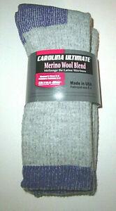 2 Pair Women's Shoe 6-9 Carolina Merino Wool Cushioned Boot Socks Ultra Dry