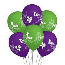 "6Pack Ninja Turtles TMNT Green & Purple 11"" Balloons Birthday Party Decoration"