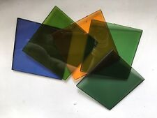 "set of (5) VERY RARE ... VARICOLOR FILTERS - 6""x6"""