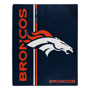 "Denver Broncos 50"" x 60"" Raschel Blanket Northwest Est 1960"