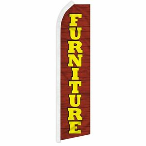 """FURNITURE"" advertising super flag swooper banner business sign"