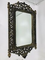 """Vintage Syroco HOMCO Large 32"""" By 18.5"""" Wall Mirror USA 2041 Hollywood Regency"""