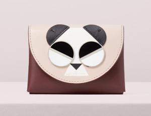 Kate Spade spademals gentle panda cardholder Wallet ~NWT~