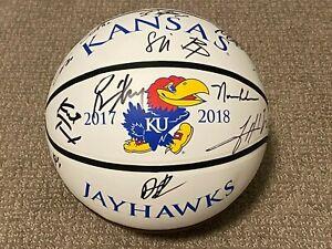 2017-2018 KANSAS JAYHAWKS OFFICIAL TEAM SIGNED AUTOGRAPHED BASKETBALL Final Four