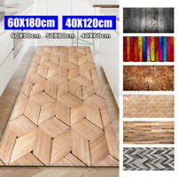 Rectangle Area Rug Wood Grain Kitchen Floor Mat Non-slip  Living Room Door