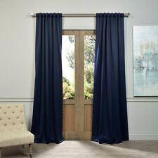 "Exclusive Fabrics Blackout Curtain Panel Pole Pocket 50"" x 108"" Navy Blue"