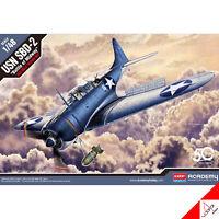 "Academy 1/48 USN SBD-2 ""Battle of Midway"" Hobby Plastic model kit #12335"