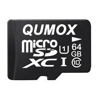 QUMOX 64GB MICRO SD 80MB/s MEMORY CARD CLASS 10 UHS-I 64 GB SPEICHERKARTE