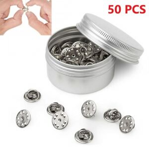 50 PCS Metal Locking PIN BACKS Keepers Butterfly Clasp for Tie Badge Brooch NEW