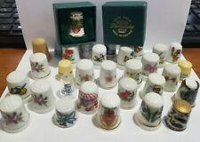 Ceramic Thimble Lot (31) Porcelain Bone China England Advertising Some Vintage