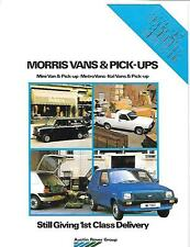 AUSTIN ROVER MORRIS VANS AND PICK UP TRUCKS SALES BROCHURE EARLY 80's