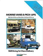 AUSTIN ROVER MORRIS VANS AND PICK UP TRUCKS SALES BROCHURE EARLY 80's