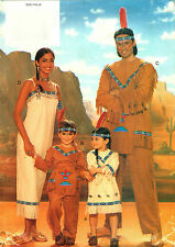 Native American Indian Butterick Costume Sewing Pattern Adult 4171
