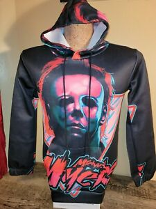 Horror Happy Halloween Michael Myers Hoodie SMALL - All Over Print