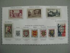 timbres France : année 1951 Y&T n° 897 898 904**, 905*, 906 900 à 903 (o),