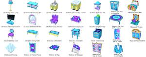 Webkinz game online virtual 28 items RETIRED YEAR 10 ANNIVERSARY ROOM THEME, PSI