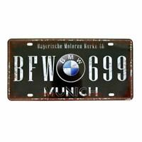 BMW Retro Novelty License Plate Auto Sign ,Aluminum License Plate ,Vanity Tag