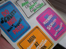 Vintage 1960s 1970s Psychadelic Schlitz Malt Liquor Beer Advertising Groovy