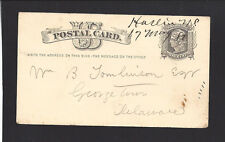 HASLIN, N.C. 1880 GPC. Sent to Mr.Tomlison,Esq in Georgetown Delaware. SR/5