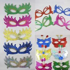 Kids Children's Cool Glittery Shiny Party Birthday Paper Card Masks (Pack of 10)