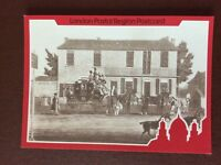 b1v postcard unused royal mail coach and horses at ilford inn