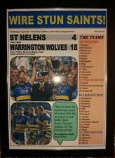 More details for warrington wolves 18 st helens 4 - 2019 challenge cup final - frarmed print