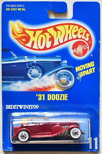 HOT WHEELS 1990 BLUE CARD '31 DOOZIE #11 RED 07 E+