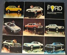1978 Ford Brochure Mustang II LTD Granada Thunderbird Fairmont Pinto Fiesta 78
