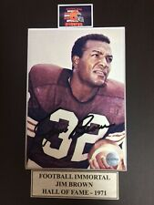 Autograph Jim Brown 5x7 matted to 8x10 Color Photo with COA