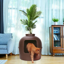 Extra Large Hidden Cat Litter Box Enclose Hooded Jumbo Covered Kitty House Cando