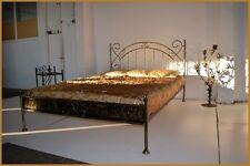 Schönes doppel Metallbett Amanda 120 x 200 mit gehämmertem Blech + Rollrost