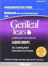 Genteal Tears Eye drops eye drops 36 single use viles 7/20 damaged box