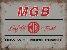 MGB MG More Power Classic Car Garage Badge Metallic Large Metal Steel Wall Sign