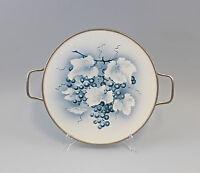 8345071 Keramik Tortenplatte mit Metallmontierung um 1910 Weinreben
